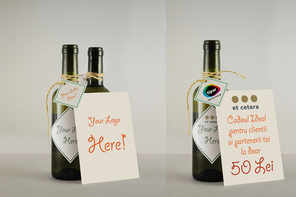 Wine Bottles Mockup 033ml A6Card