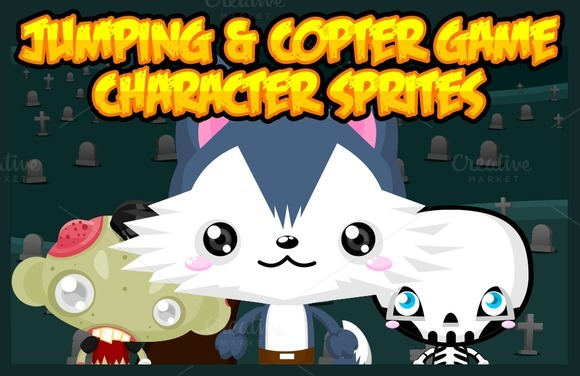 Jumping Copters Game Sprites