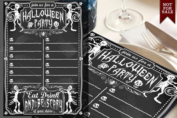 Vintage Blackboard For Halloween