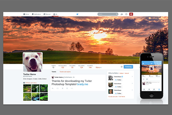 Ultimate Twitter Photoshop Template