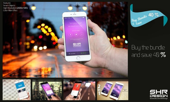 I Phone 6 Mock Up Bundle