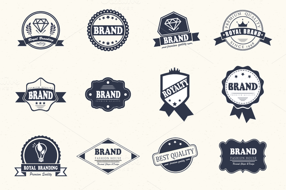 12 Logos Badges Bundle