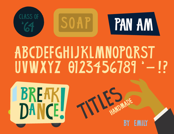 Mad Men-Inspired Ad Lettering