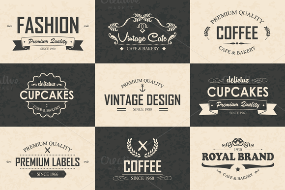 9 Logos Badges Labels