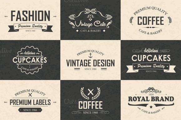 9 Logos Badges Labels