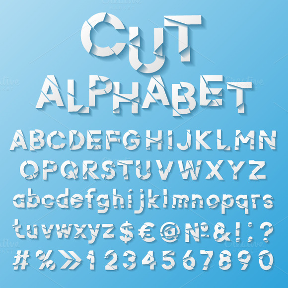 Set Of Paper Alphabets