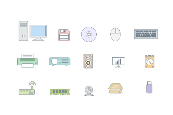 Peripheral Icon Set