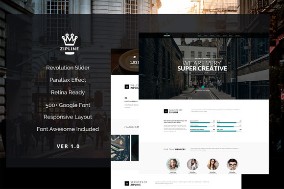 Zipline Creative Wordpress Theme