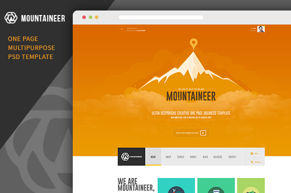 Mountaineer-Multipurpose Psd Theme