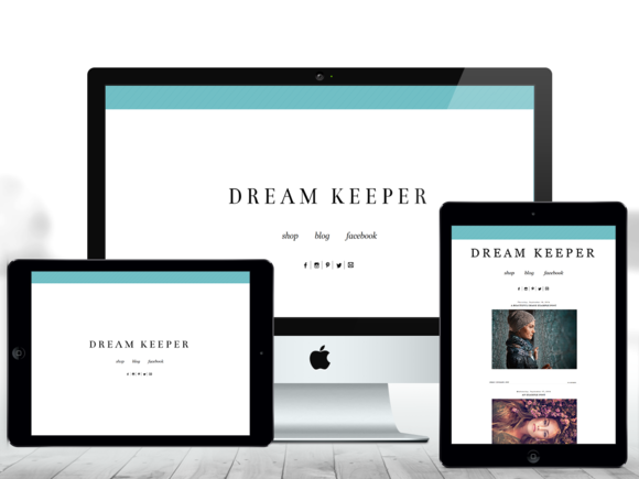 2 In 1 Blogger Theme Dream Keeper