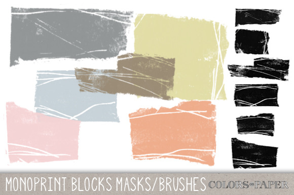 Monoprint Brushes Clipart Brushes