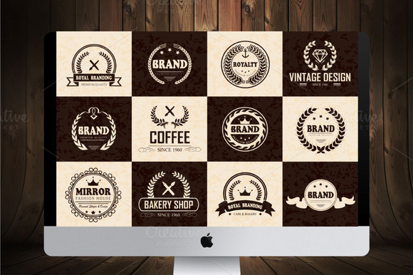 12 Logos Badges Labels V.3