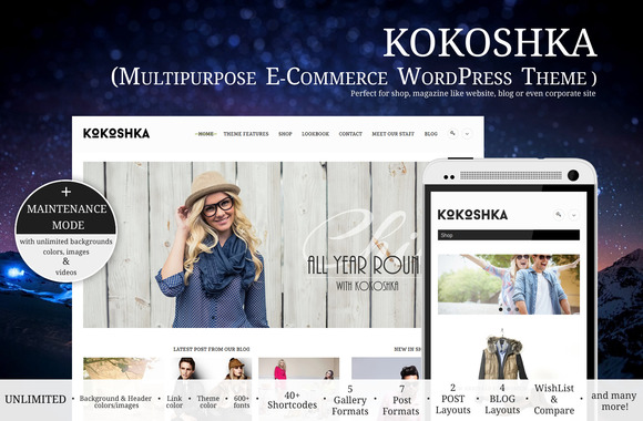 Kokoshka Multipurpose Shop WP Theme