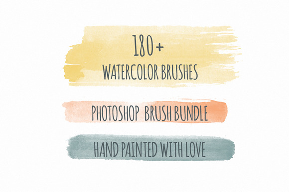 180 Handmade Watercolor PS Brushes