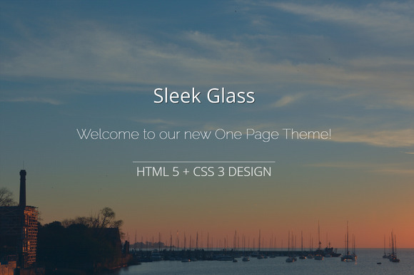Sleek Glass One Page HTML 5 CSS3