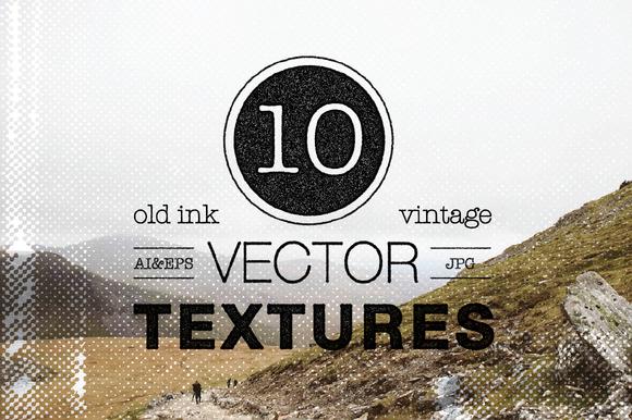 10 Vintage Vector Textures