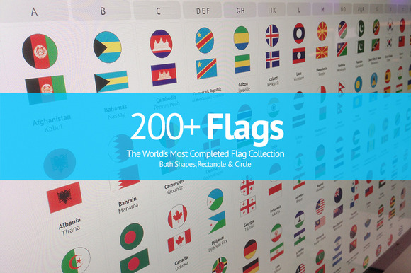 200 Flags From Around The World