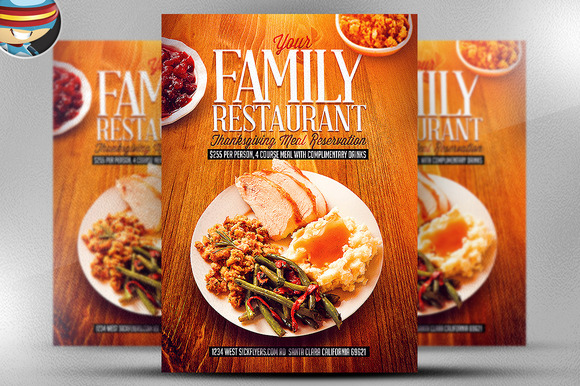 Thanksgiving Restaurant Template