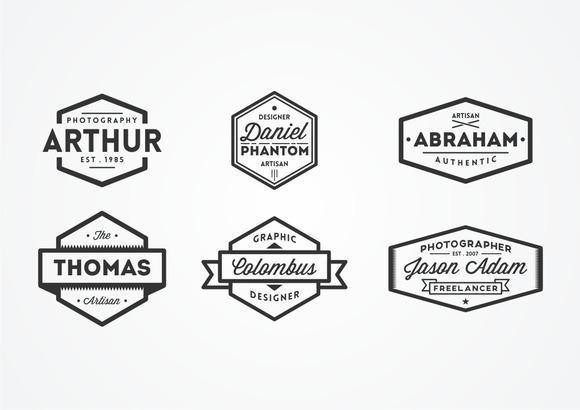 6 Name Based Vintage Logos