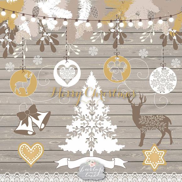 Wood Christmas Clipart