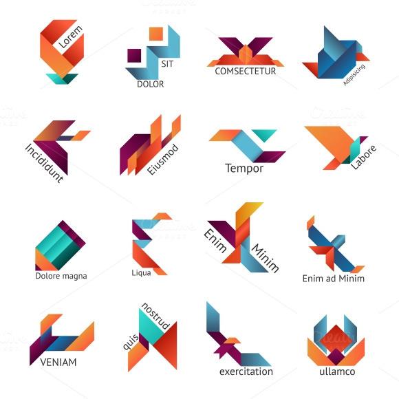 Origami Business Logo Set