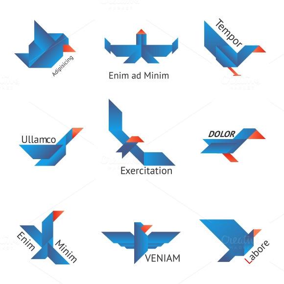 Origami Birds Logos