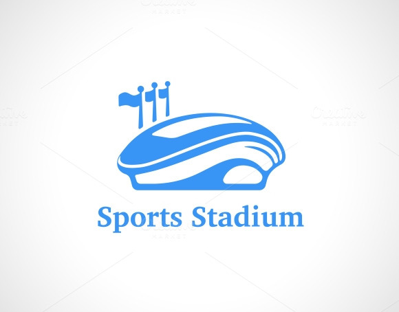 Sports Stadium Logo In Blue