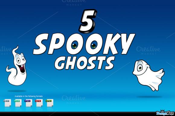 5 Spooky Cartoon Ghosts