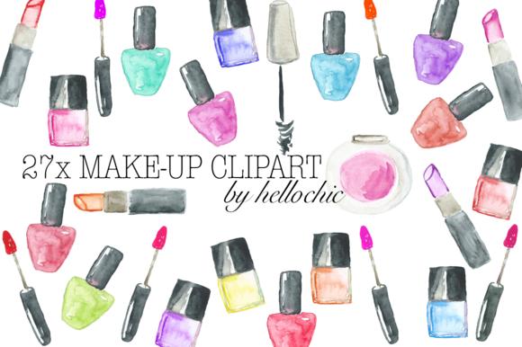 Watercolor Make-Up Cliparts