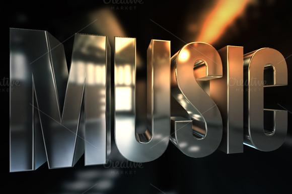 Music 3D Text Render
