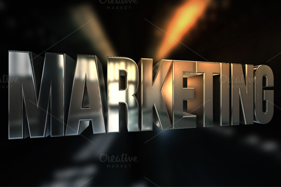 3D Marketing Text Render