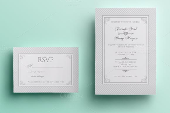 Romantic Wedding Invitation And RSVP