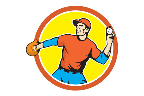 Baseball Pitcher Outfielder Thro