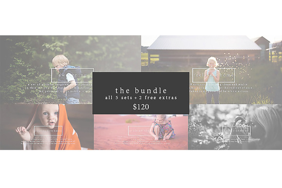The Bundle Photoshop Actions