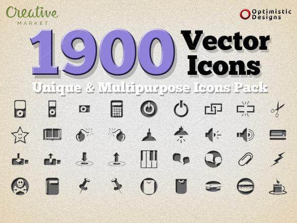 1900 Unique Vector Icons