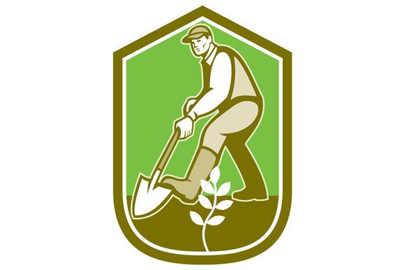 Gardener Landscaper Digging Shovel C