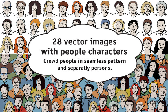 28 Vectors With People Characters