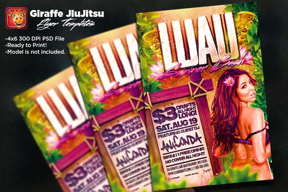 Luau Summer Bash Flyer Template