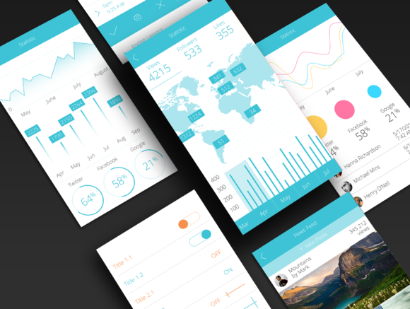 IOS 8 Flat UI Kit