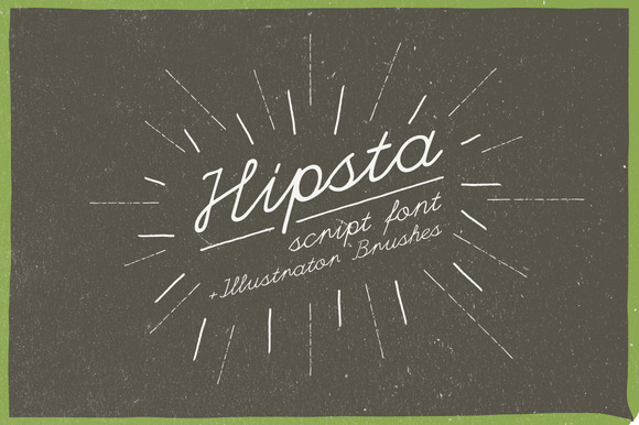 Hipsta Script Hand Drawn Brushes