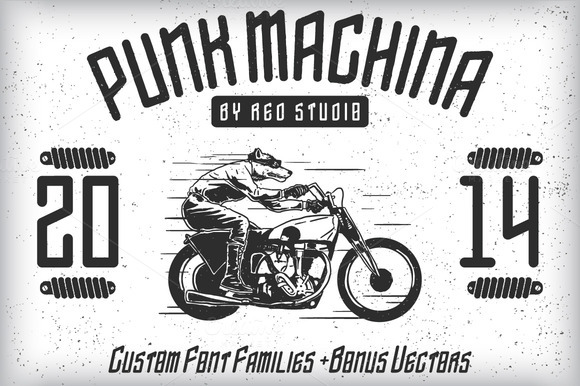 Punk Machina Typeface Bonus
