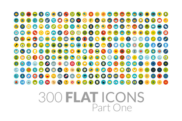 300 Flat Icons Part One