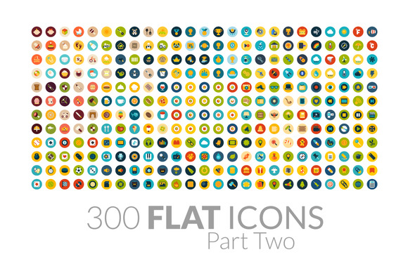 300 Flat Icons Part Two