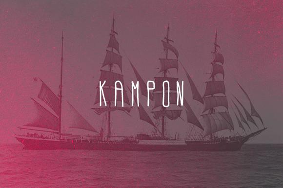 KAMPON Typeface