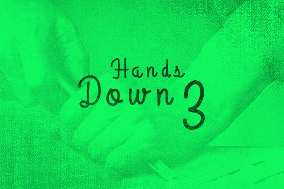 HandsDown3 Typeface