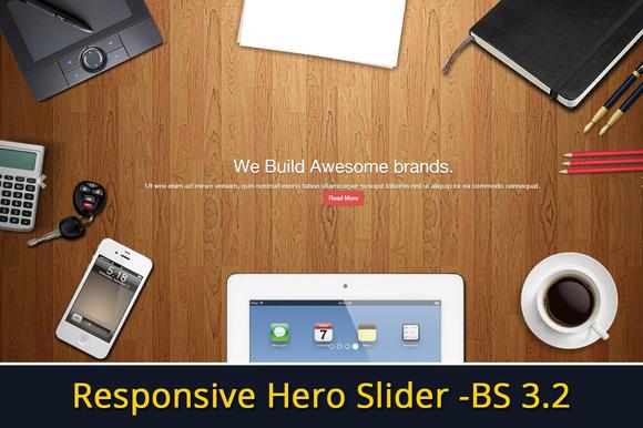 Responsive Hero Slider Bootstrap 3