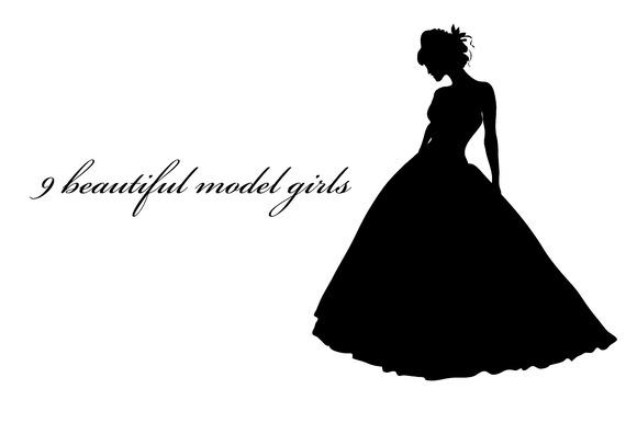 9 Set Various Beautiful Model Girl