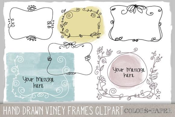 Viney Frames Doodle Clipart Brushes