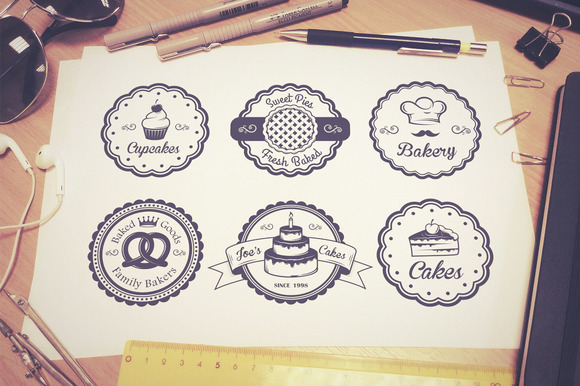 Vintage Bakery Emblems Part 1