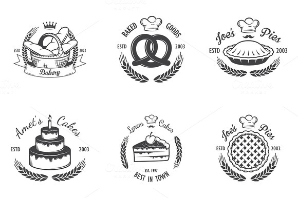 Vintage Bakery Emblems Part 3
